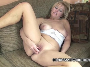 Busty housewife Lissa fucks her..