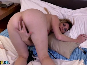 Small titted MILF masturbating..