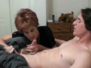 Cougar Mother Seduces Her Son