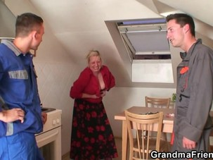 Granny offers her old body for..