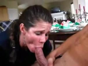 Amateur Maid Blowjob Quick Cum..