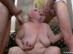 Chunky Mature In A 3some Gets..