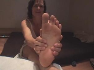 Magdalen's Bare Feet Soles