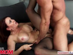 Busty horny MILF Janet Mason..