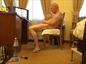 Horny pervert grandpa wank over..