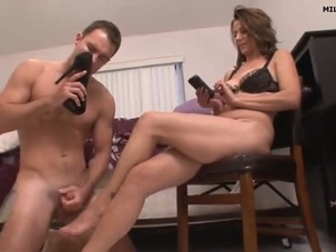 milf makes foot play 720p