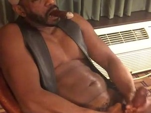 A mature black thick dick man..