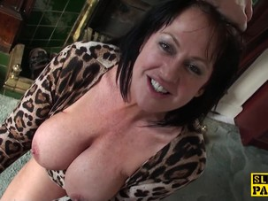 Busty mature dominated with..