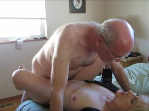 Horny older couple having..