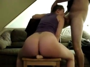 Riding my toy while sucking..
