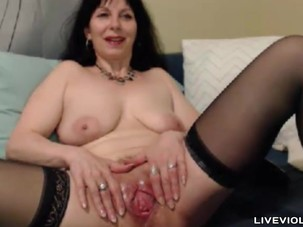 Hot flexible old Sylvana with a..