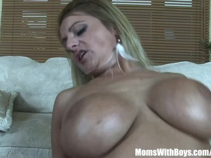 Mouth Fucked Blonde MILF..