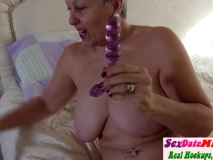 Real Granny with Big Tits on..