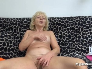 Wrinkly Grandma Pleasures Her..
