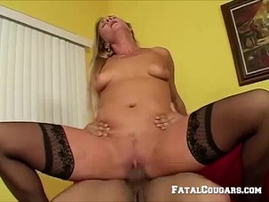 Randy Mature Blonde Rides A..
